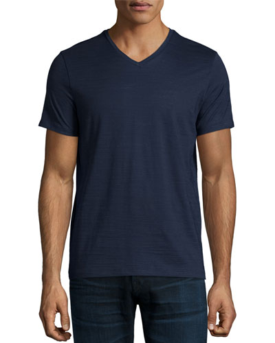 Short-Sleeve V-Neck T-Shirt, Navy