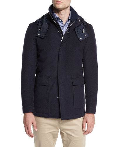 Tempest All-Weather Hooded Jacket, Barchetta Blue