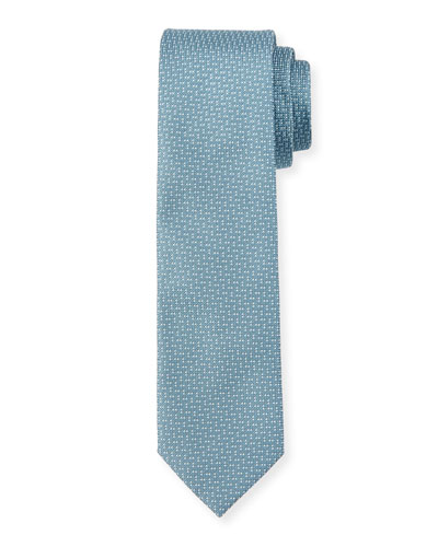 Spotted Silk Tie, Teal