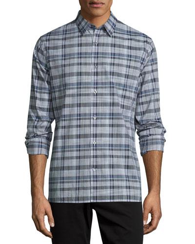 Melrose Plaid Sport Shirt, Plum