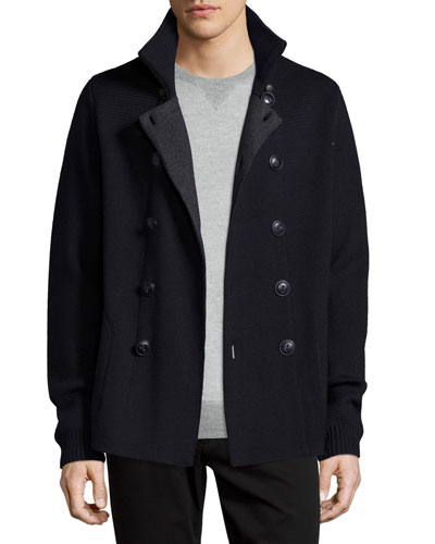 Know Double-Breasted Peacoat Sweater, Coastal