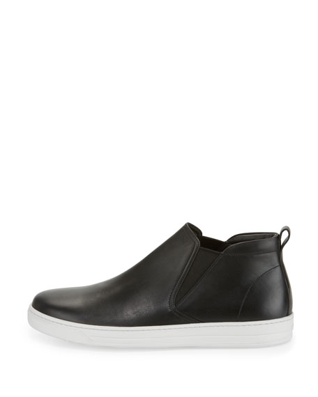 Leather Chelsea Sneaker, Black