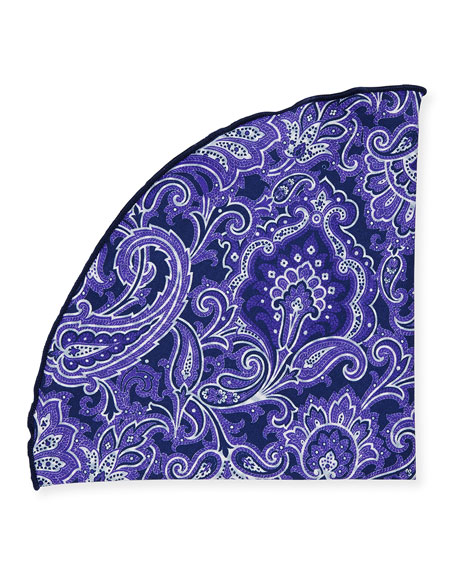 Edward Armah Two-Sided Printed Pocket Circle, Purple