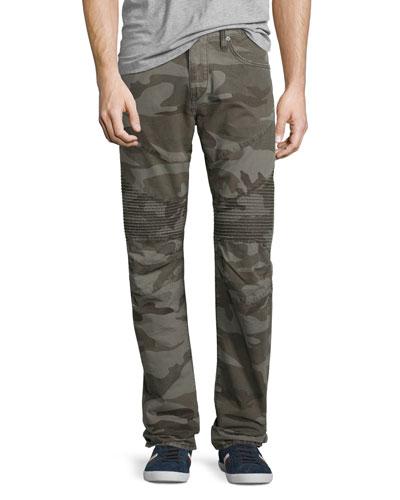 Rocco Camouflage Moto Denim Jeans