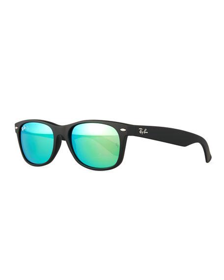 New Wayfarer Sunglasses W/Mirror Lenses