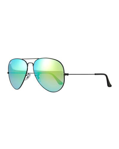Original Aviator Sunglasses W/Mirror Lenses