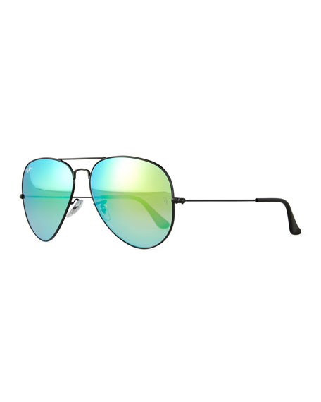 Ray-Ban Original Aviator Sunglasses W/Mirror Lenses