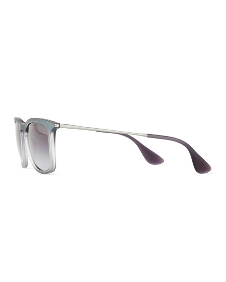 RB4221 Highstreet Gradient Square Plastic Sunglasses