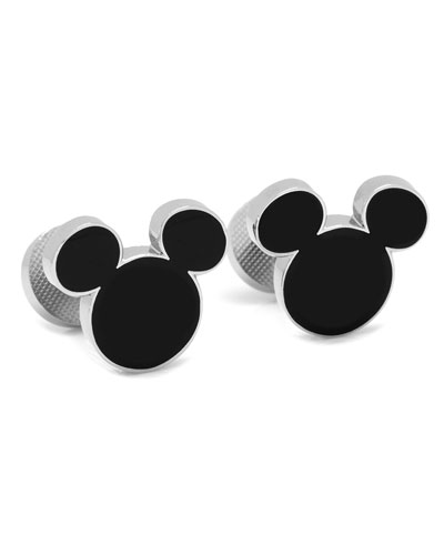 Mickey Mouse Silhouette Cuff Links