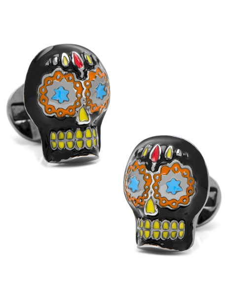 Day Of The Dead Skull Cuff Links