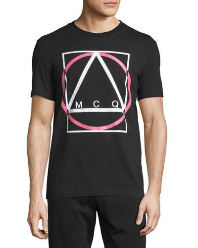Logo-Print Short-Sleeve T-Shirt, Darkest Black