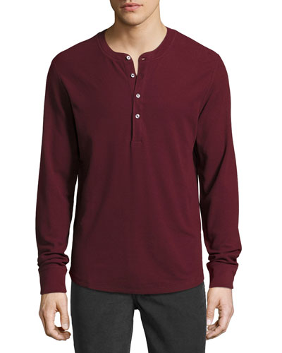 Thermal Henley T-Shirt, Chianti