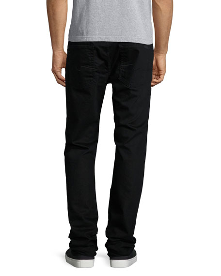 FoolProof Slim Straight-Leg Denim Jeans, Towne Black