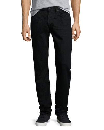 FoolProof Slim Straight-Leg Denim Jeans, Towne Black