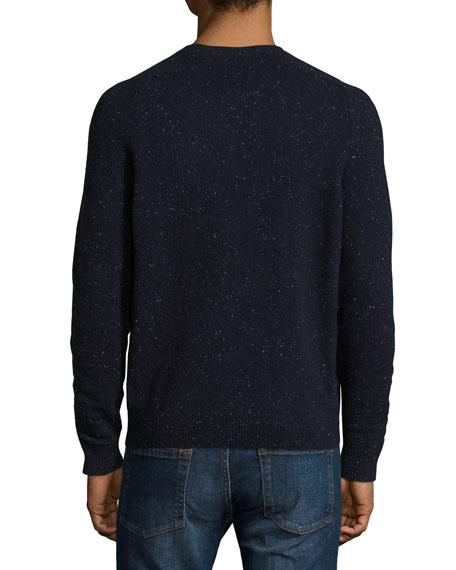 Donegal Crewneck Sweater, Cosmos/White