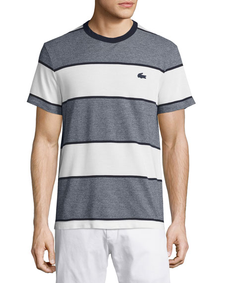 Heather Striped T-Shirt, Bleu Marine