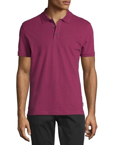 Piqué Polo Shirt, Raspberry