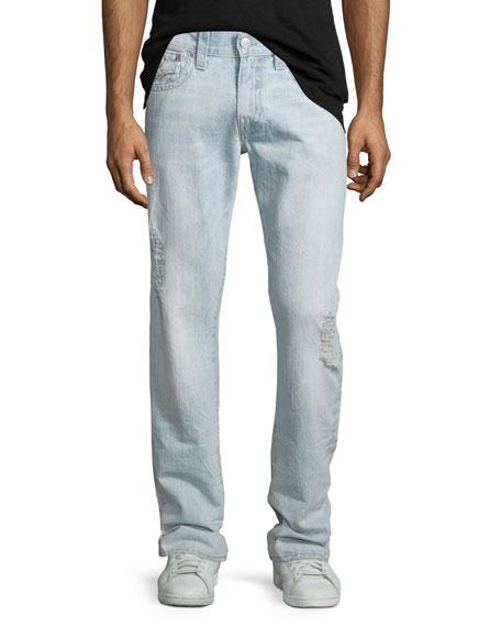 True ReligionGeno Vintage Indigo Denim Jeans, Light Blue