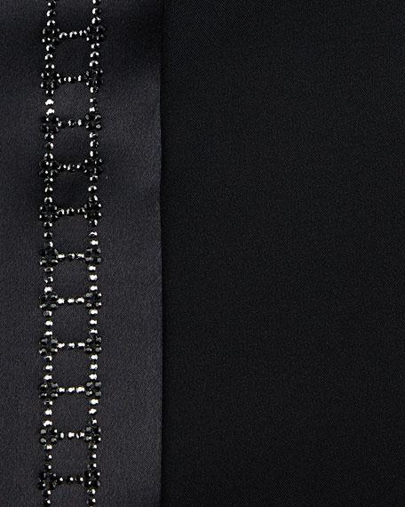 Crystal-Placket Silk French-Cuff Tuxedo Shirt