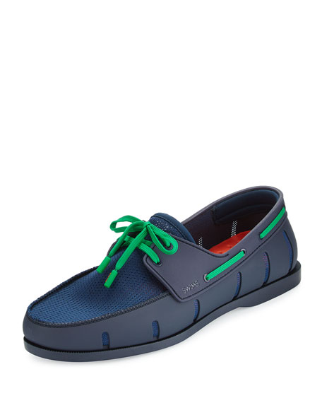 Swims Water-Resistant Mesh Boat Shoe, Navy