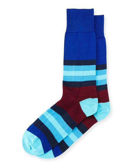 Paul Smith Chunky Colorblock Socks, Navy