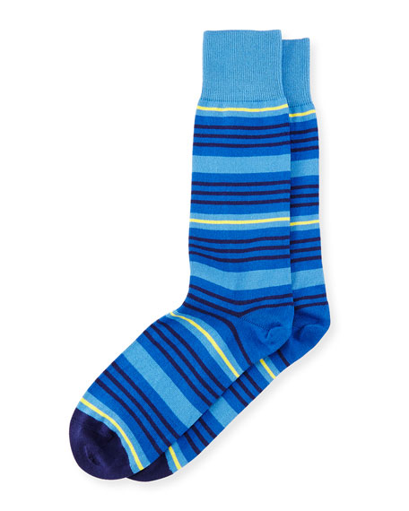 Spin Striped Socks, Blue