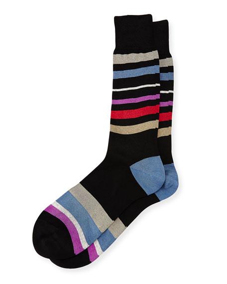 Flux Striped Socks, Black