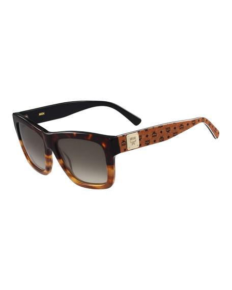 Two-Tone Plastic Sunglasses