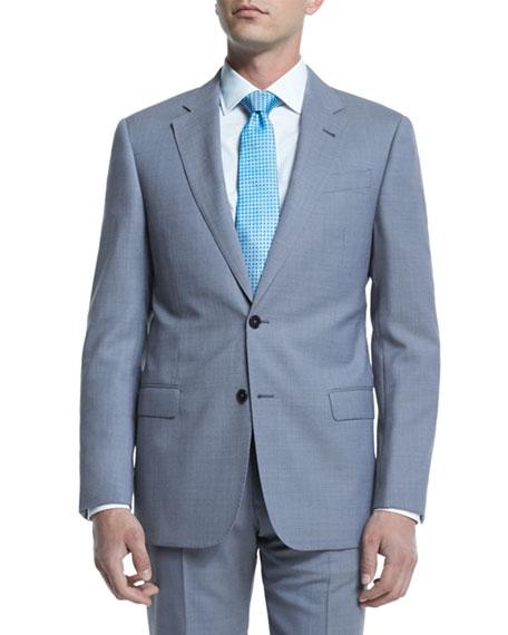 Armani Collezioni G-Line Melange Solid Two-Piece Suit, Light