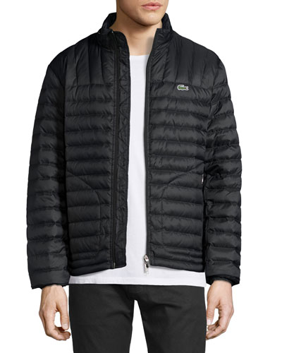 Lightweight Quilted Down Jacket, Black