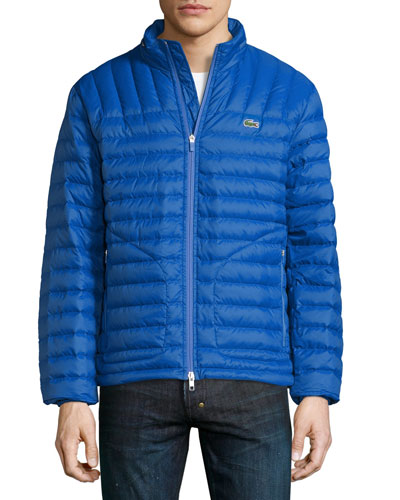 Lightweight Quilted Down Jacket, Blue