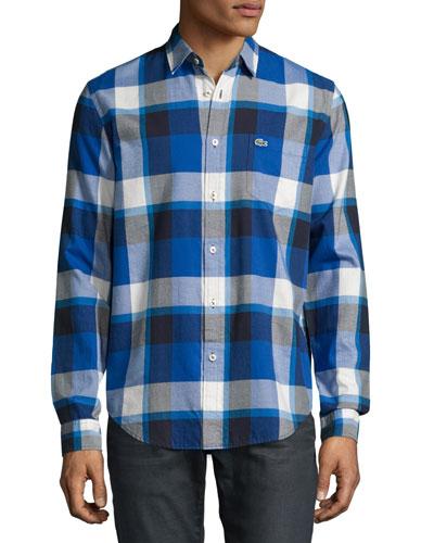 Bold Plaid Sport Shirt, Steamer/Lapland