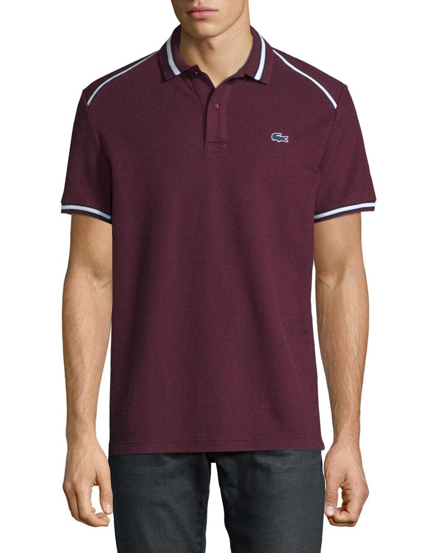 Trim Shirt Lacoste Striped Vendangenavy Polo Neiman Marcus Blue Bq5t5wf