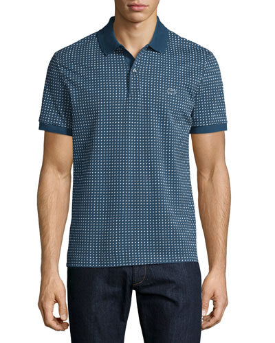 Kinetic Triangle-Pattern Polo Shirt, Philippines Blue