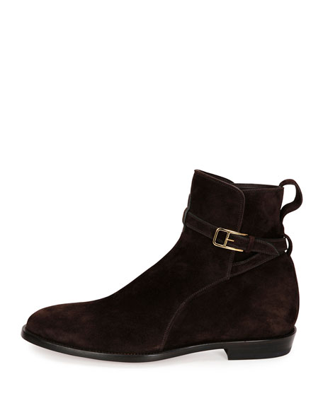 bally hobston suede jodhpur ankle boot brown