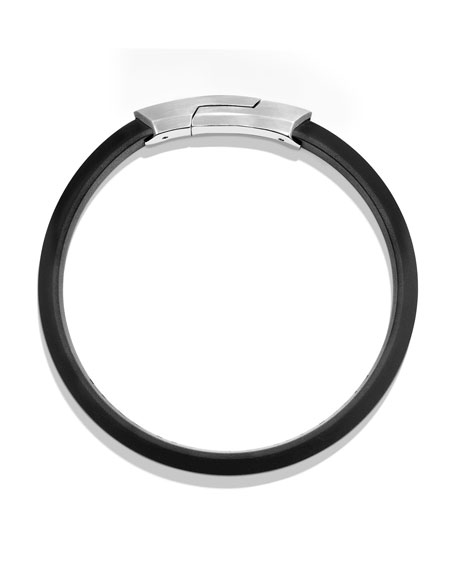 Streamline Rubber ID Bracelet, Black