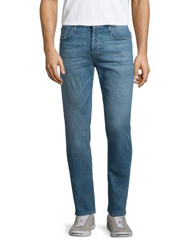 Sartor Cavern Skinny-Leg Denim Jeans, Blue