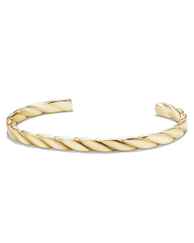 Cable Classics Men's 18K Gold Cuff Bracelet