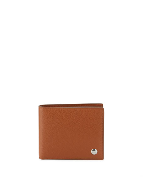 Boston Leather Bi-Fold Wallet, Tan