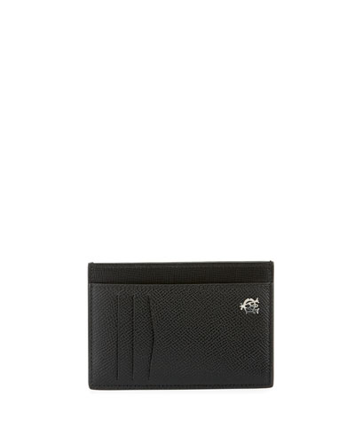 Bourdon Leather ID Card Case, Black