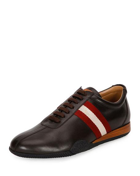 Bally Men's Frenz Leather Low-Top Sneaker, Brown