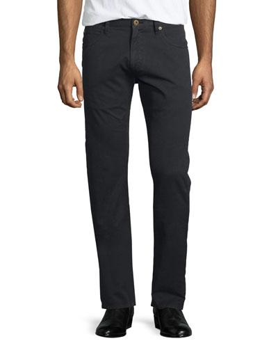 Ashland Five-Pocket Slim Jeans, Black