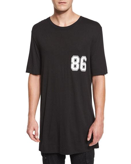 Helmut Lang Varsity Logo Oversized T-Shirt, Black Multi