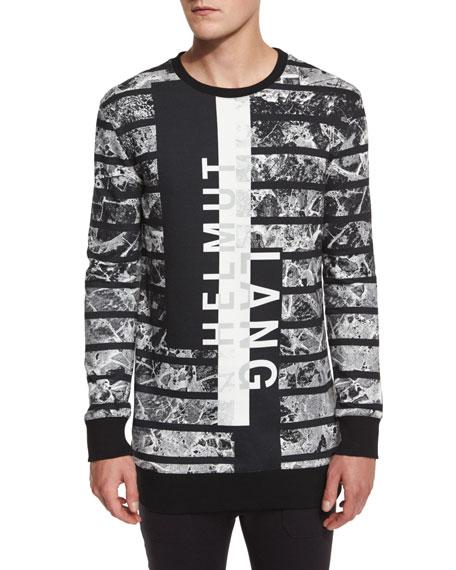 Helmut Lang Logo Graphic Oversized Sweater, Black Multi