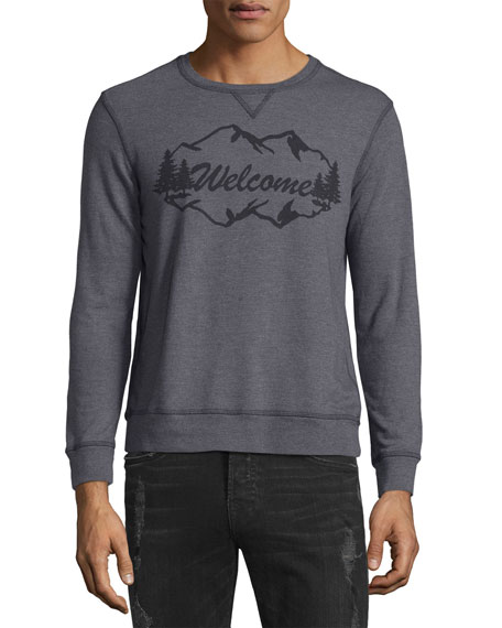 Welcome Mountains Sweatshirt, Dark Gray
