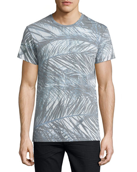 Sea Palms Graphic T-Shirt, White Pattern