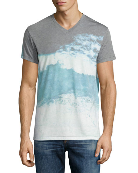 Sol angeles moonlight water v neck t shirt multi neiman for T shirt printing downtown los angeles