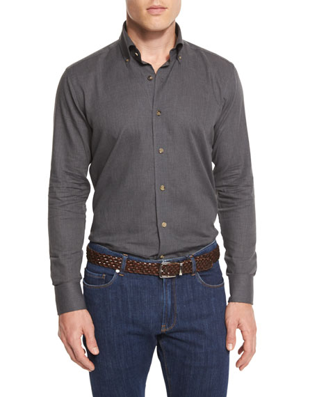 Peter Millar Merino-Blend Micro-Stripe Quarter-Zip Sweater &