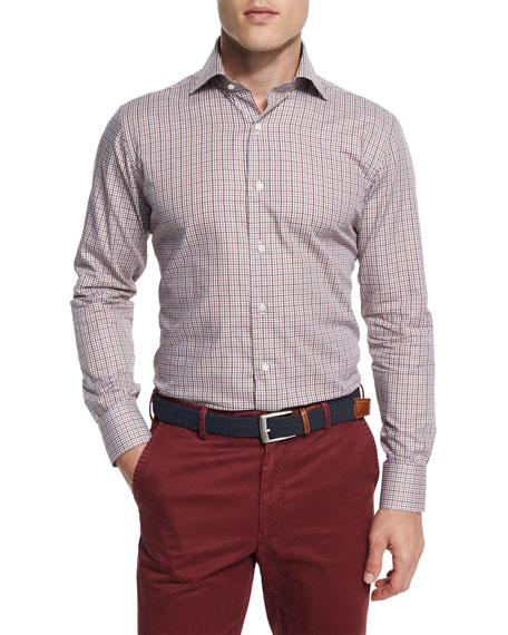 Peter Millar Alpine Check Long-Sleeve Sport Shirt