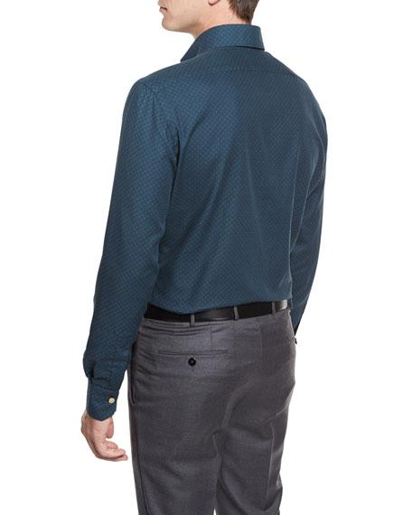 Houndstooth Sport Shirt, Green